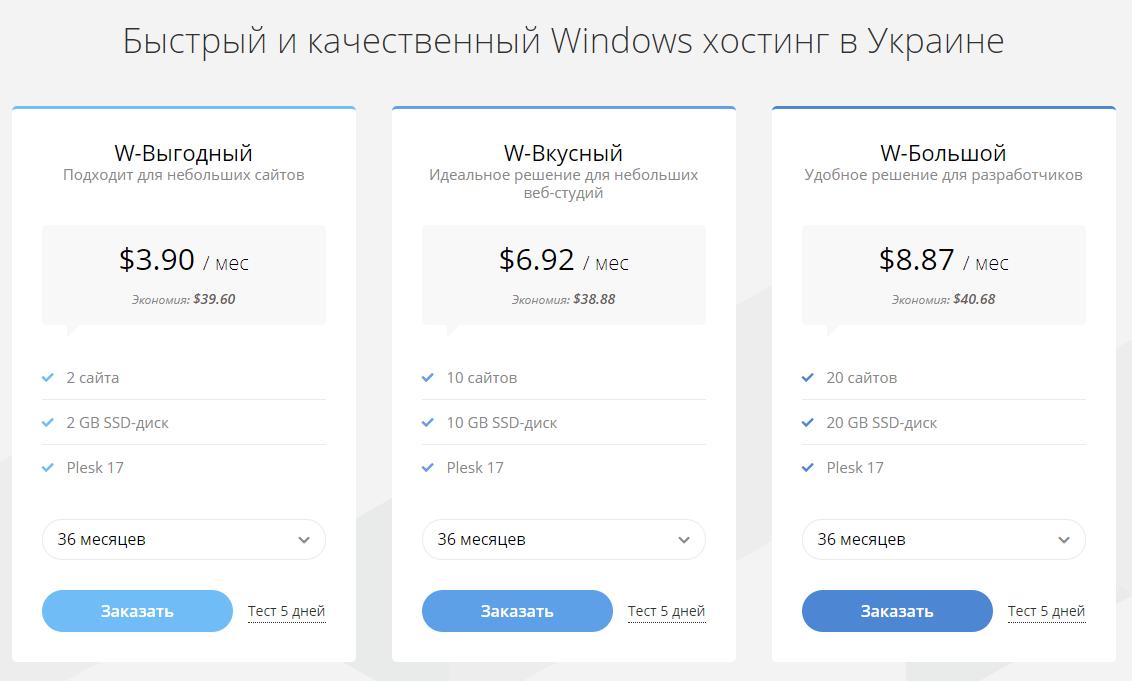 Windows Хостинг Hostpro