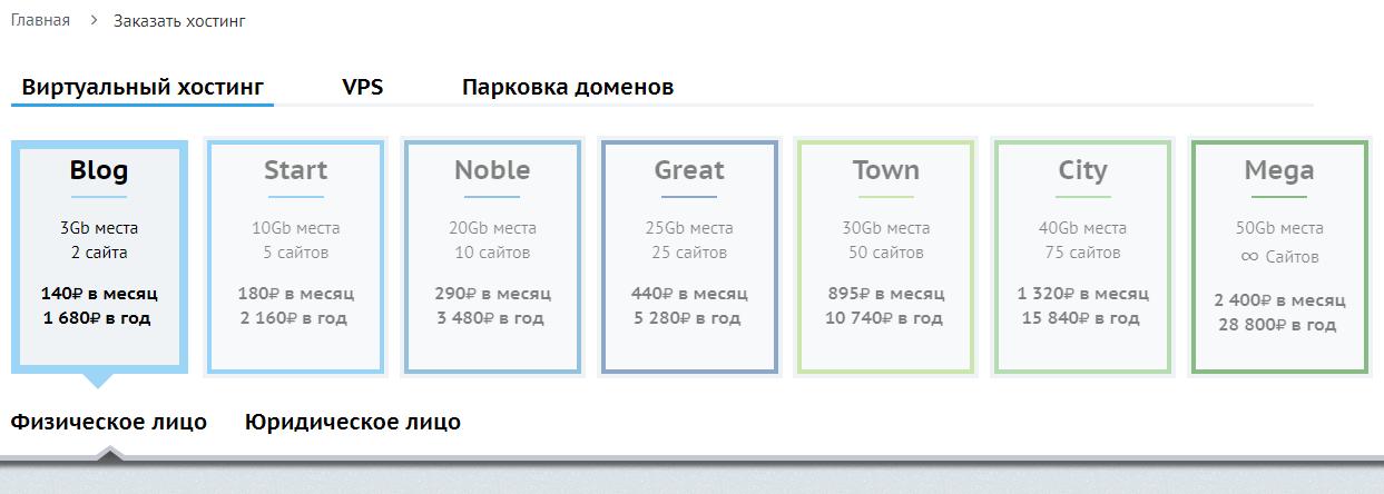 Регистрация на сайте Beget.ru