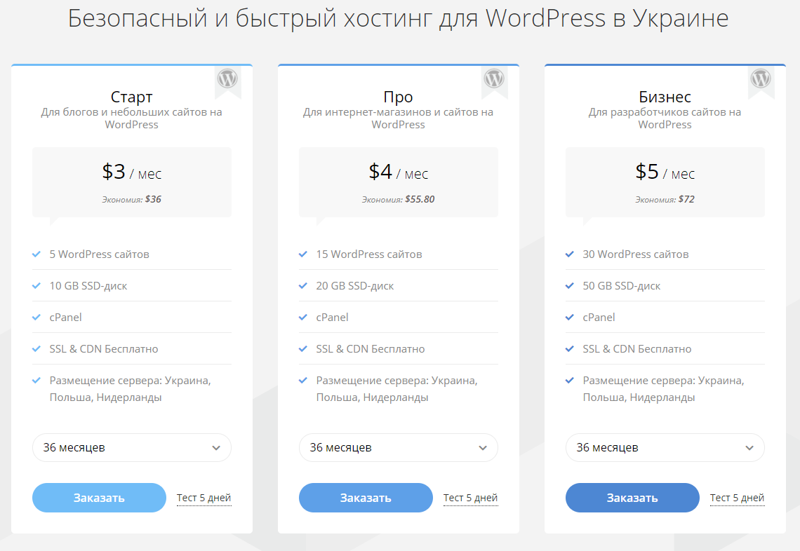 WordPress Хостинг Hostpro
